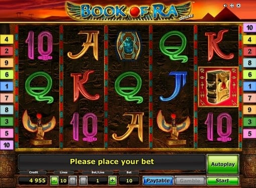 Символ игры Book of Ra Deluxe